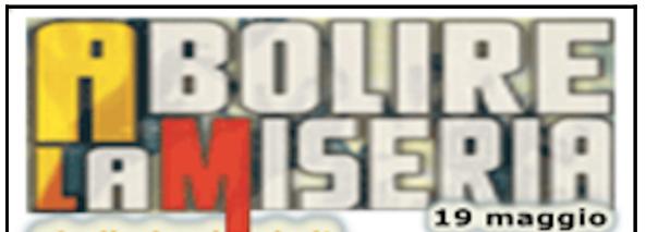 Abolire la miseria – 19 maggio